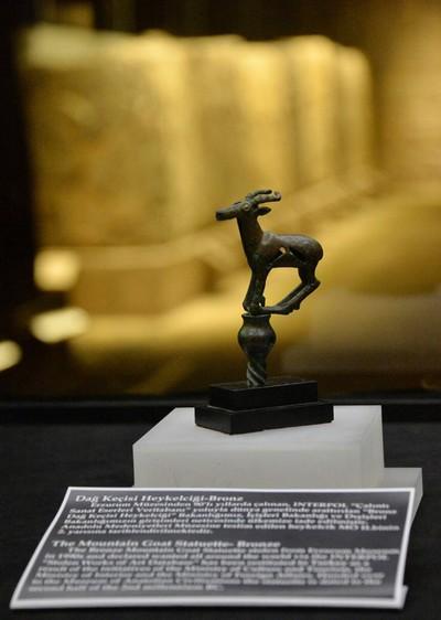 Mountain Goat Figurine artifact (IHA Photo)