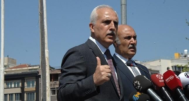 Former Istanbul Governor Hüseyin Avni Mutlu (R) is giving a press statement with Hüseyin Çapkın, former police chief, on April 30, 2013. (Photo: Sabah / Mustafa Kaya)