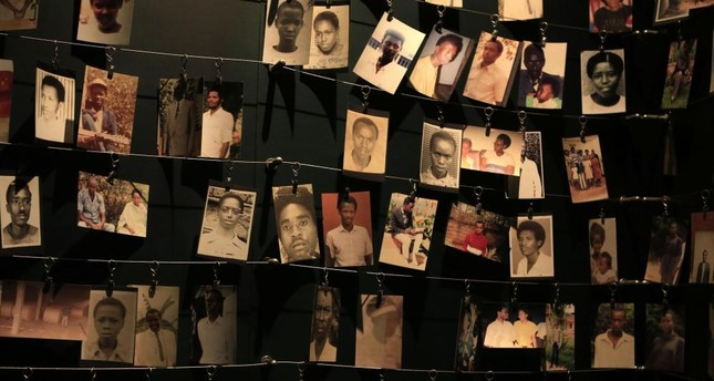 Photographs of people who were killed during the 1994 genocide are seen inside the Kigali Genocide Memorial Museum, in the Rwandan capital Kigali, April 5, 2014.