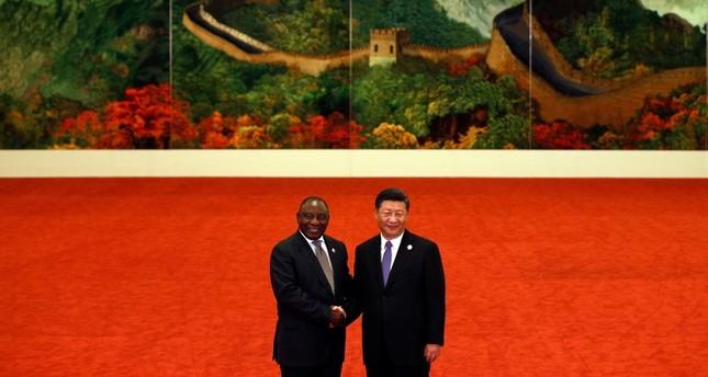 الرئيس الصيني مستقبلا رئيس جنوب إفريقيا اليوم (الفرنسية)