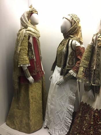 The golden dress from Attica only appeared in public after Greek independence, symbolizing a historical relationship between Turks and Greeks.