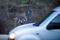 Roadside memorials in memory of traffic accident victims