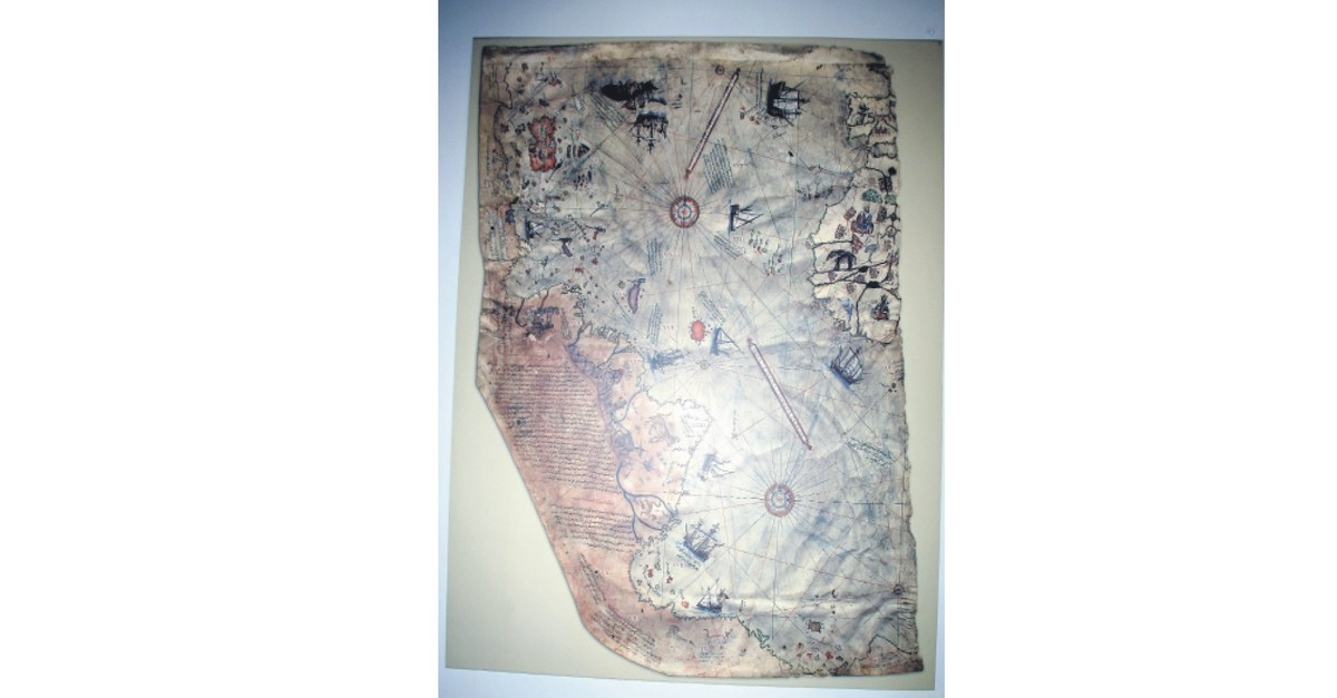 A small part of Piri Reisu2019 world map, prepared in 1513, was discovered in 1929 at Topkapu0131 Palace in Istanbul.