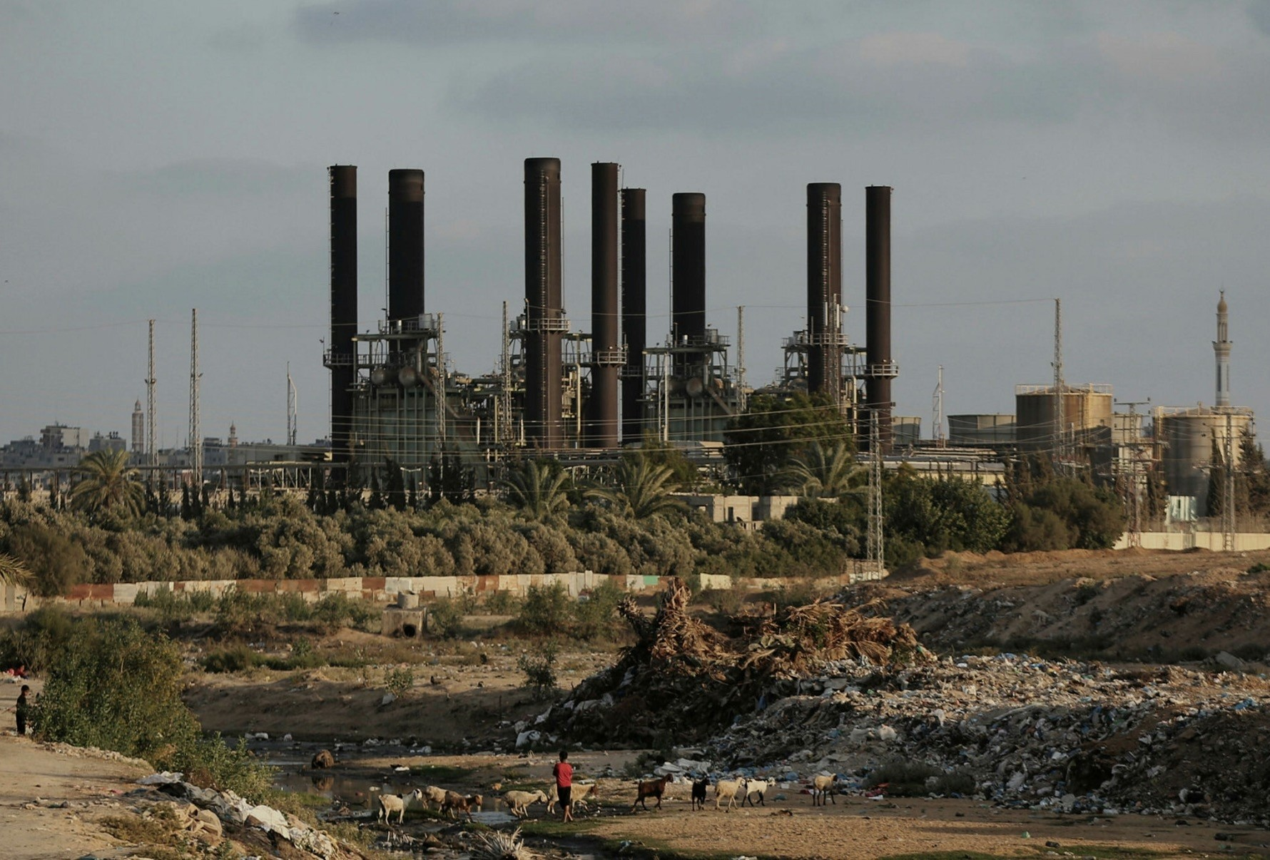 A power plant generates electricity in the central Gaza Strip.