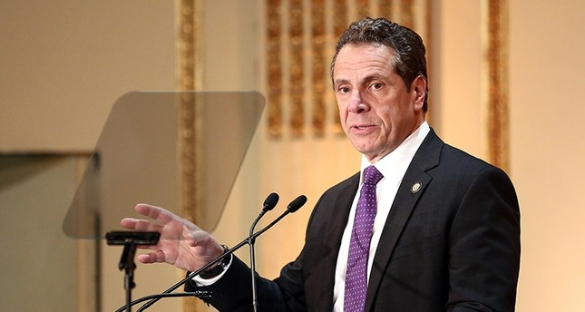 Governor of New York State Andrew Cuomo speaks on stage at the HELP USA 30th Anniversary Event AFP Photo