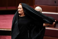 Anti-Muslim Australian senator calls for burqa ban in public spaces after offensive stunt