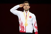Turkey's 1st gold medalist in men's rings aims for Olympic medal