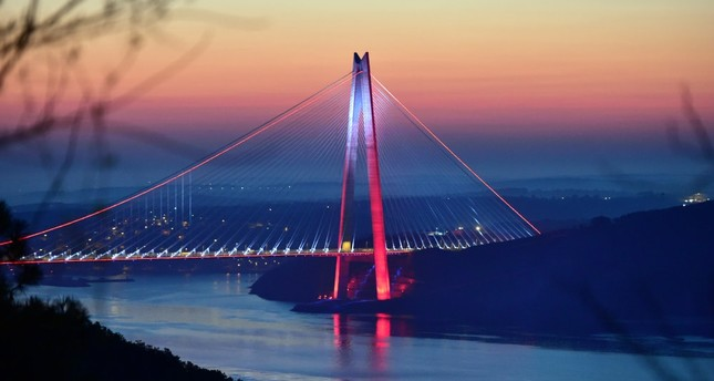 A view of the Yavuz Sultan Selim Bridge, which was built with a $3 billion investment and went operational in August 2016.