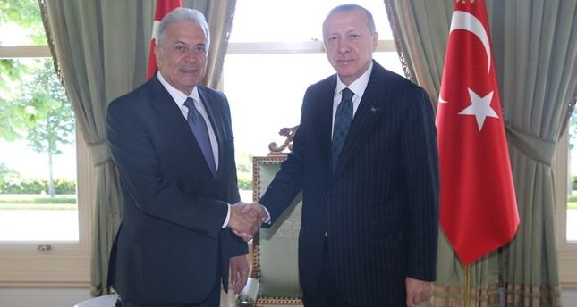 أردوغان يلتقي مسؤول شؤون الهجرة والجنسية بالمجلس الأوروبي