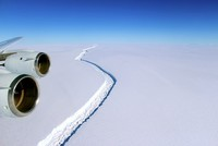 One of the world's largest icebergs looks set to form in the coming months as it breaks off an Antarctic ice shelf, according to a British research group.  University of Colorado scientist Ted...