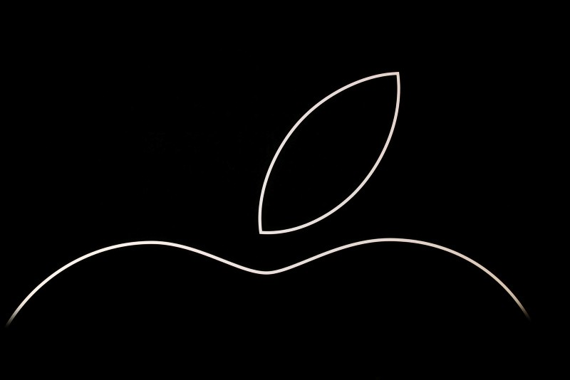 In this file photo taken on September 12, 2018 the Apple logo is see onstage prior to an apple event at the Steve Jobs Theater at Apple Park in Cupertino, California. (AFP Photo)