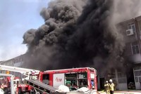 Fire breaks out at shoe factory in Istanbul