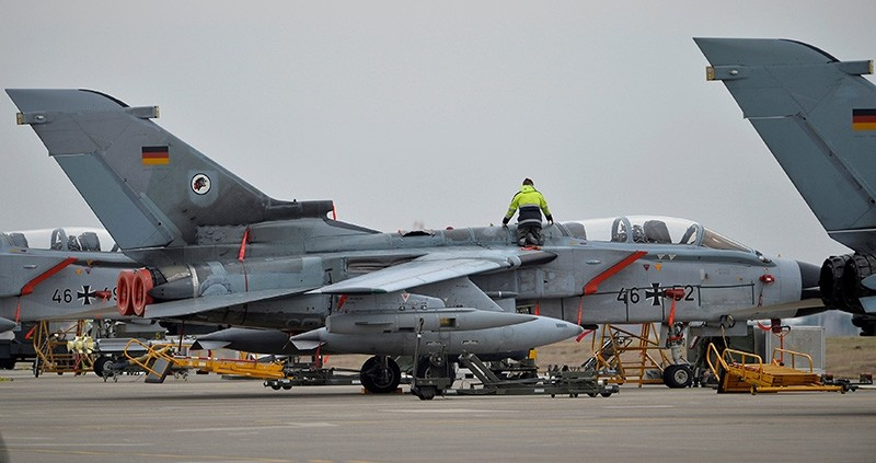 A technician works on a German Tornado jet at Incirlik Airbase in Adana, Turkey, January 21, 2016. (Reuters Photo)