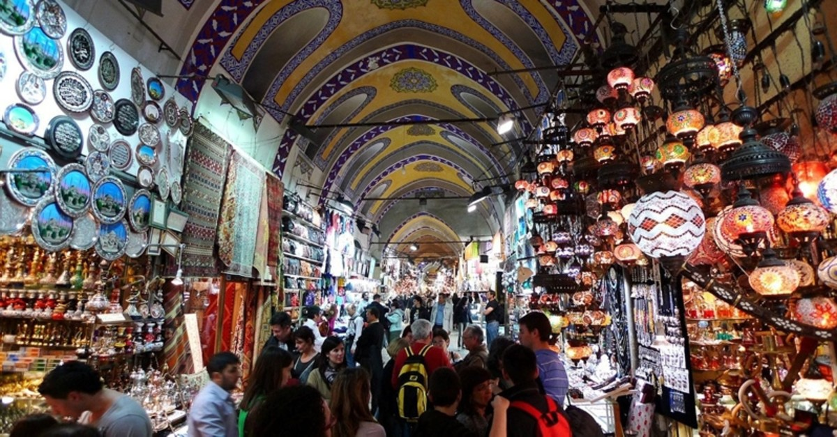 Tourists and locals visit Istanbul's historic Grand Bazaar, one of the city's main tourist attractions. (Sabah Photo)