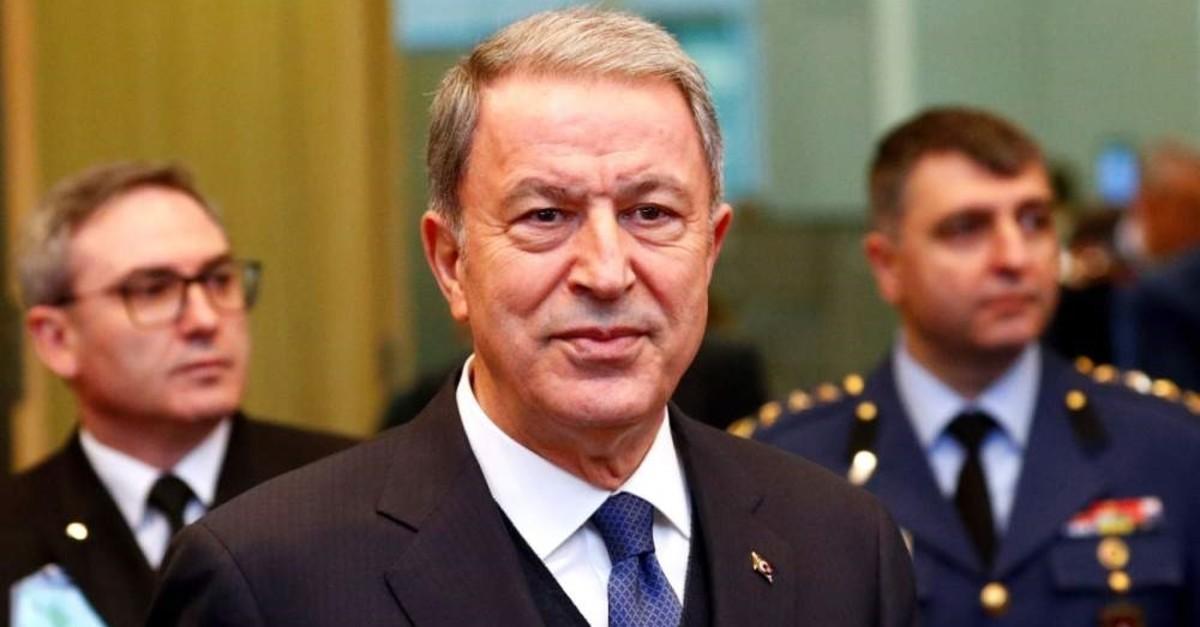 Defense Minister Hulusi Akar. (Reuters Photo)