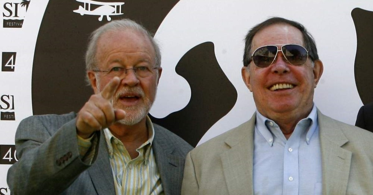 In this file photo taken on Oct. 9, 2007 US special effects supervisory Douglas Trumbull (L) and visual futurist designer Syd Mead of ,Blade Runner: the final cut, pose at the Catalonian International film festival of Sitges. (AFP Photo)