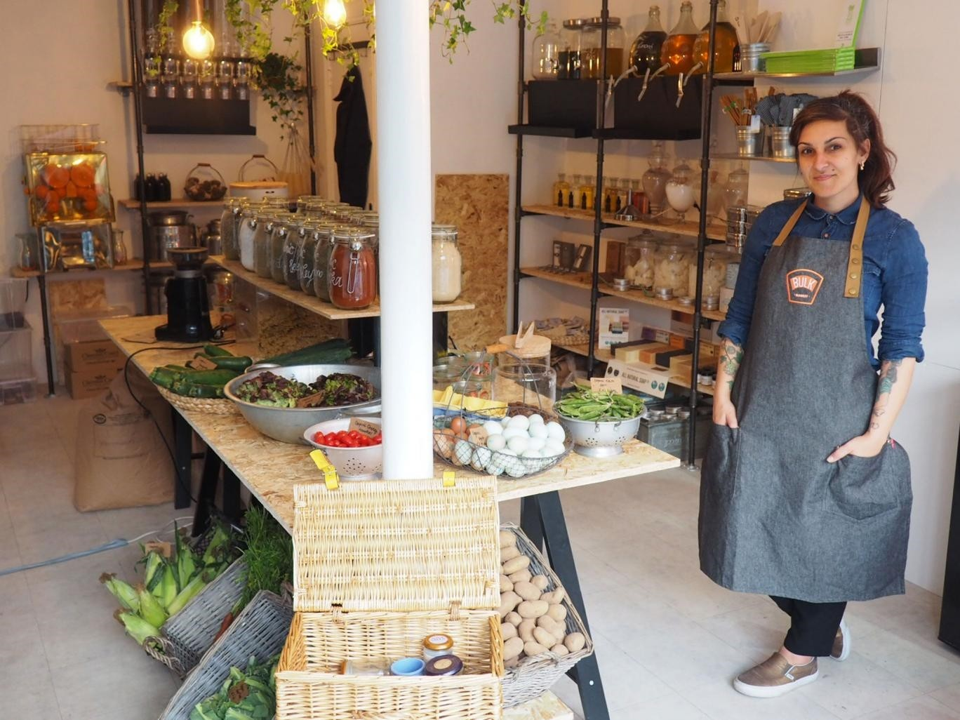 Ingrid Caldironi has opened the only u201czero-wasteu201d store in London, selling foods in bulk, products made out of waste and durable alternatives to typical disposable products, such as plastic cutlery, razors and sponges.