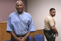 Former NFL football star O.J. Simpson enters for his parole hearing at the Lovelock Correctional Center in Lovelock, Nev., July 20, 2017. (AP Photo)