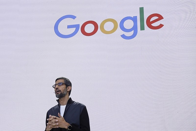 In this file photo dated Wednesday, May 17, 2017, Google CEO Sundar Pichai delivers the keynote address for the Google I/O conference in Mountain View, Calif. (AP Photo)