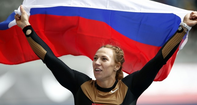 Javelin thrower Russia's Maria Abakumova's doping retests came back positive.