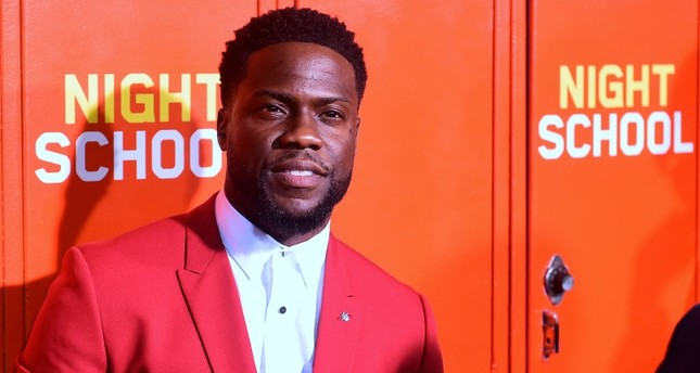 In this file photo taken on September 24, 2018 actor Kevin Hart arrives for the premiere of 'Night School' in Los Angeles, California. (AFP Photo)