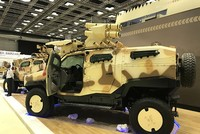 Domestically built new armored vehicles displayed at Qatar expo