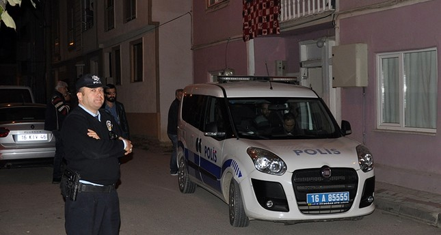 Police carrying out anti-terror raids in Bursa's İnegöl district on October 6, 2017 DHA Photo