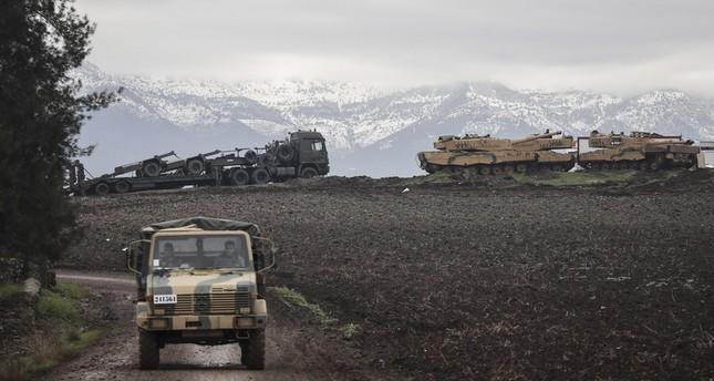 آليات عسكرية تركية مشاركة في عملية غصن الزيتون (من الأرشيف)