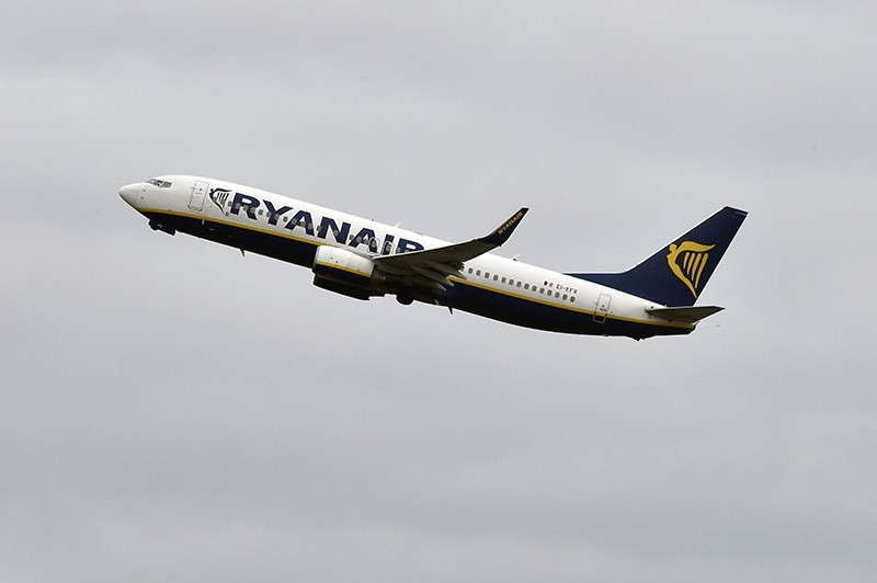 This file photo taken on November 24, 2016 shows a Boeing 737-800 of Irish low-cost passenger carrier Ryanair is pictured  at Toulouse-Blagnac airport. (AFP Photo)