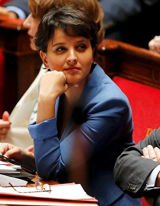 French Education Minister Najat Vallaud-Belkacem attends the questions to the government session at the National Assembly in Paris, France, July 6, 2016. (Reuters Photo)