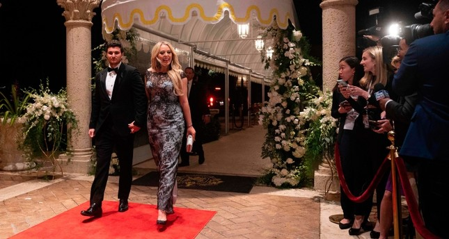Tiffany Trump and her boyfriend Michael Boulos arrive for a New Year's celebration at Mar-a-Lago in Palm Beach, Florida, on December 31, 2019. AFP Photo