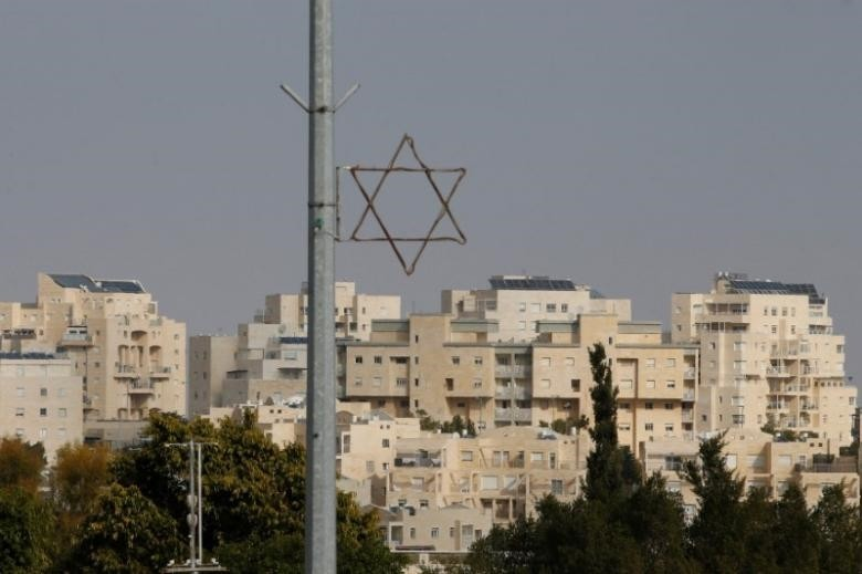 A general view shows a Star of David near buildings in the Israeli settlement of Maale Edumim, in the occupied West Bank December 28, 2016. (Reuters Photo)