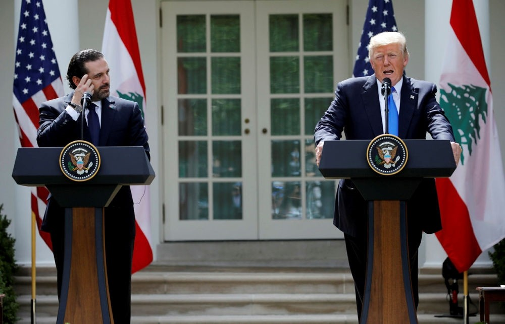 U.S. President Donald Trump speaks during a press conference with Lebanese Prime Minister Saad al-Hariri in the Rose Garden of the White House in Washington, U.S., July 25, 2017. (REUTERS Photo)