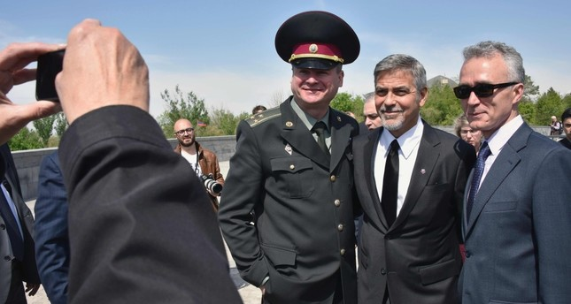 Without any qualifications or prior knowledge, celebrities such as George Clooney, seen here in Armenia, find it appropriate to pontificate about what really happened in 1915 rather than leave the matter to the historians.