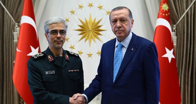 President Erdoğan received Chief of Staff of Iranian Armed Forces Mohammad Bagheri at the Beştepe Presidential Complex in Ankara on Wednesday.