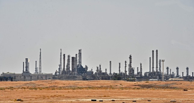 A picture taken on September 15, 2019 shows an Aramco oil facility near al-Khurj area, just south of the Saudi capital Riyadh. AFP Photo