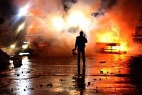 جانب من أعمال العنف التي حدثت في 6-8 أكتوبر 2014 الأناضول