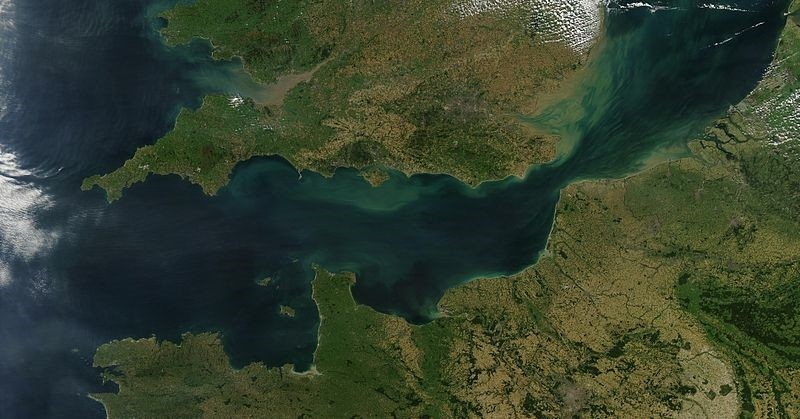 Satellite image of the English Channel from September 13, 2002. (WIKIMEDIA COMMONS Photo via NASA)
