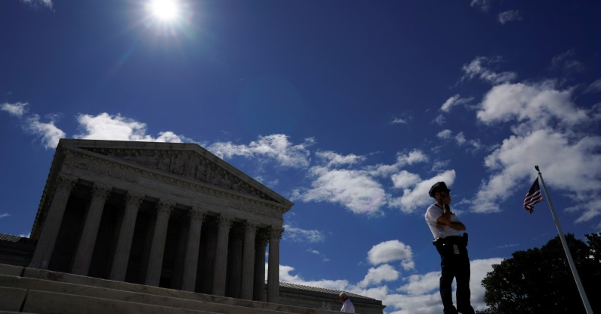 An police officer keeps watch at the U.S. Supreme Court in Washington, U.S., June 21, 2019. (Reuters Photo)