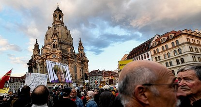 pSome 1,500 sympathizers of the xenophobic and anti-Islam Pegida movement gathered Monday in eastern Germany's Dresden to celebrate the latest success of the far-right Alternative for Germany...