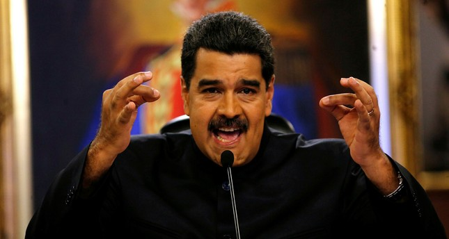 Venezuelan President Nicolas Maduro speaks at a news conference in Caracas, June 22.