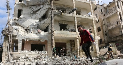 Syria regime struck Idlib 6,422 times in March: report