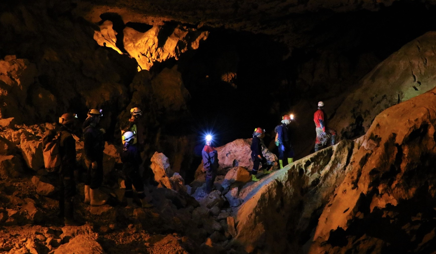 Students camped for three days and stayed in the cave for 13 hours in groups of nine, wearing coveralls, boots and hard hats and carrying carbide lamps.