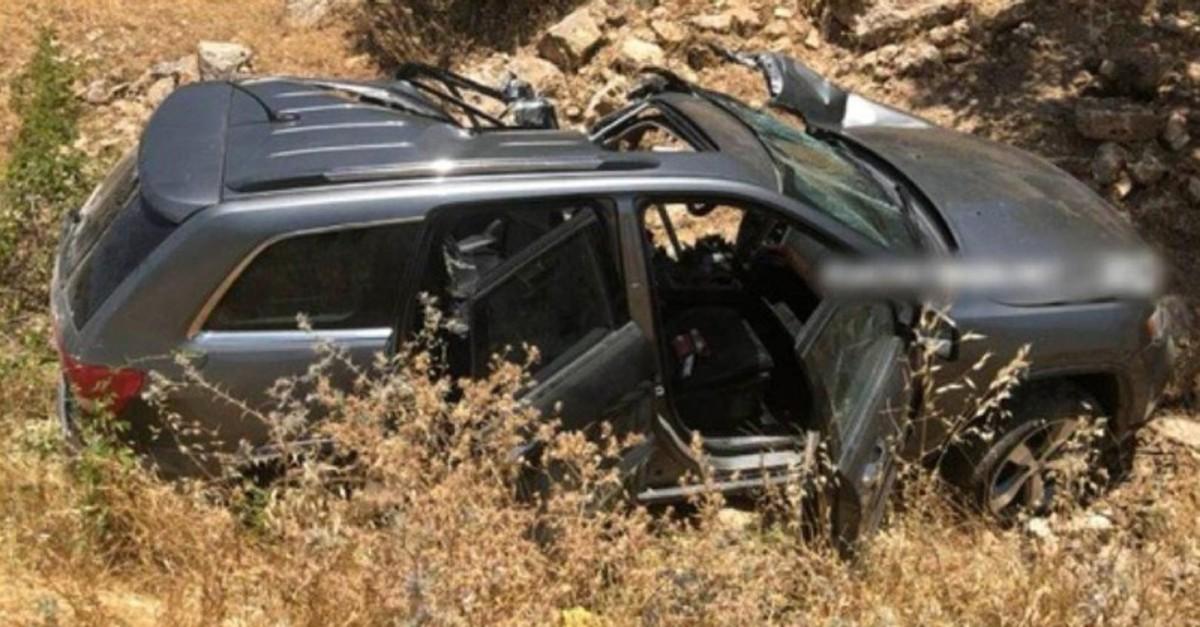 The vehicle belonging to one of the terrorist masterminds in northern Iraq (IHA Photo)