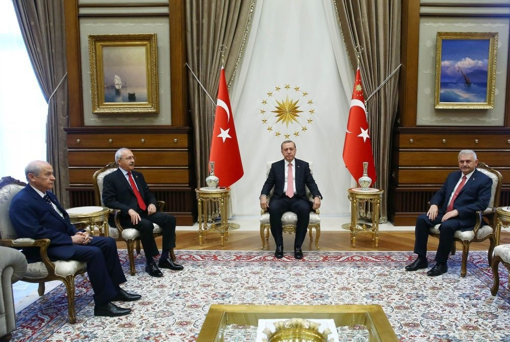 Erdoğan received opposition leaders Kılıçdaroğlu and Bahçeli last month in the first meeting of its kind.