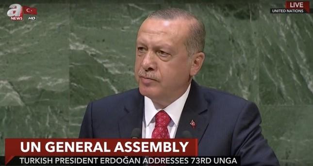 Erdoğan calls for establishing new global system at UN