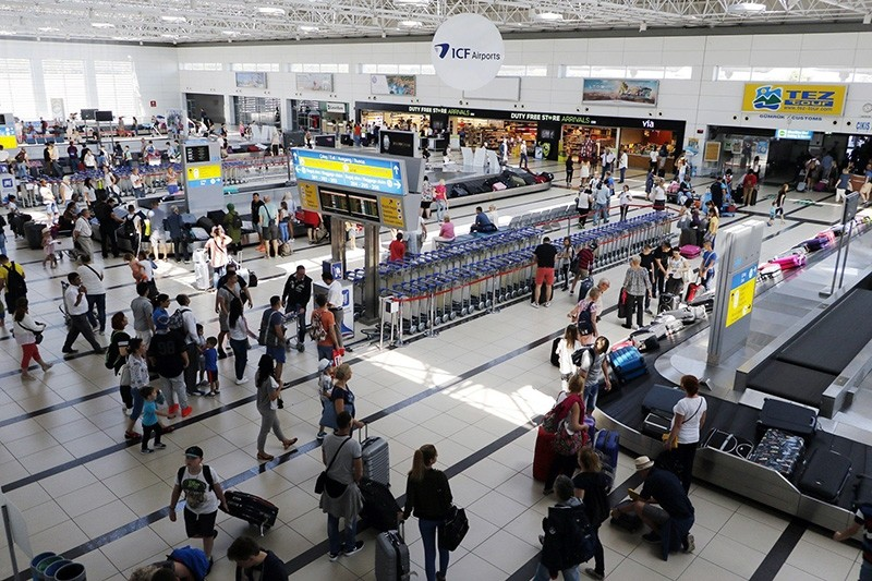 This file photo dated Sept. 19, 2016 shows Antalya International Airport, a main gateway for Russian tourists. (IHA Photo)