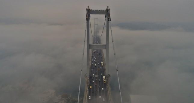 July 15 Martyrs' Bridge under a dense patch of fog, Feb. 21, 2019.