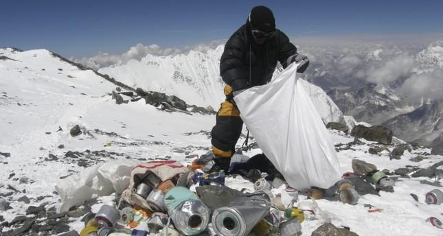 Mount Everest, the high-altitude garbage dump