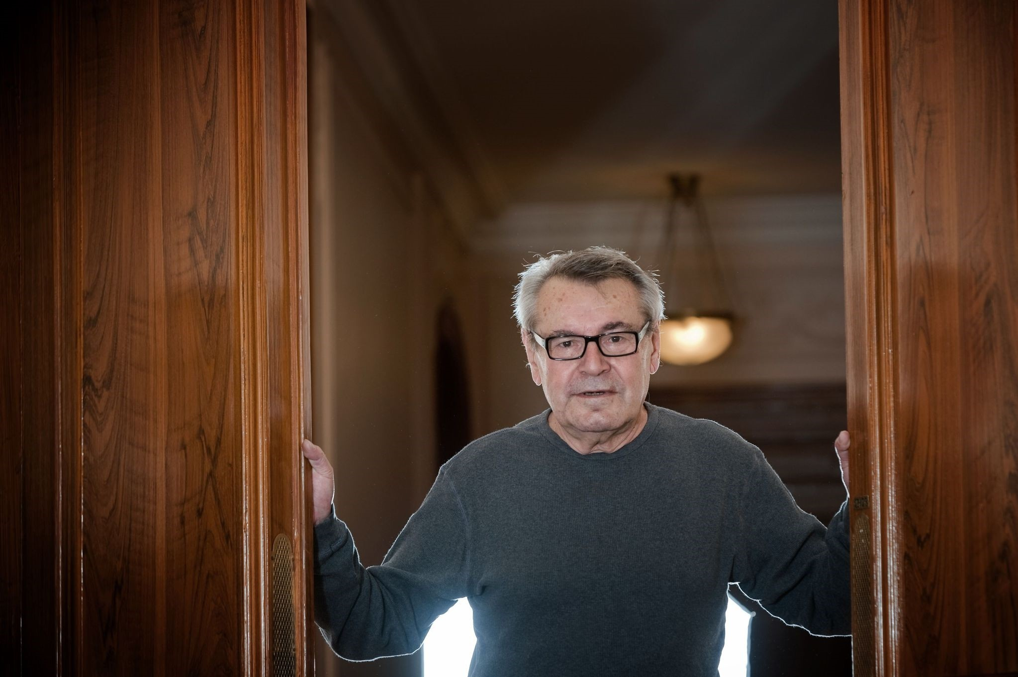 In this file photo taken on October 09, 2009 Czech-born US film director Milos Forman poses in Paris. (AFP Photo)
